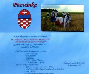 13. stretnutia Slovákov a priateľov pri žatevných slávnostiach