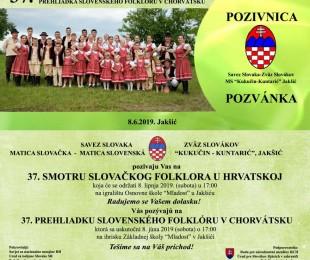 37. prehliadka slovenského folklóru v Chorvátsku