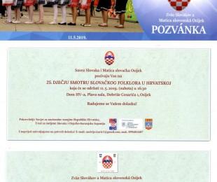 25. detská prehliadka slovenského folklóru v Chorvátsku