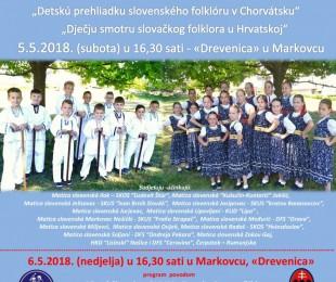 Detská prehliadka slovenského folklóru v Chorvátsku 2018