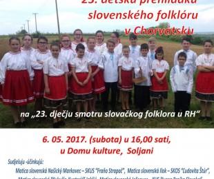 MS Soljani: 23. detska prehliadka slovenského folklóru v Chorvátsku