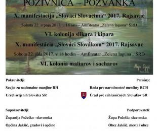 """MS Jakšić:   X. manifestácia """"Slováci Slovákom"""" 2017. Rajsavac"""