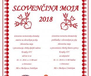 Slovenčina moja 2018