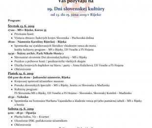 19. dni slovenskej kultúry v Rijeke