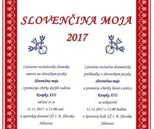 Slovenčina moja 2017