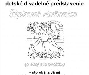 MS Ilok: Detské divadelné predstavenie - Šípková Ruženka
