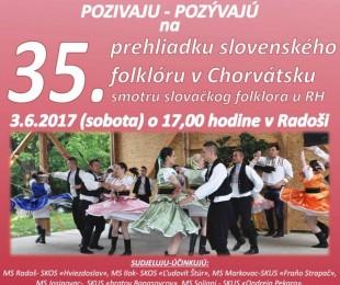 MS Radoš: 35. Priehliadka Slovenského folklóru v Chorvátsku