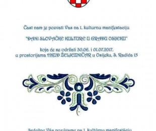 MS Osijek: I. Dani Slovačke kulture u gradu Osijeku