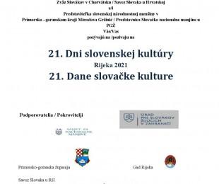 21. Dani slovačke kulture, Rijeka
